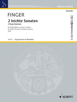 Finger, G: 2 easy Sonatas Product Image