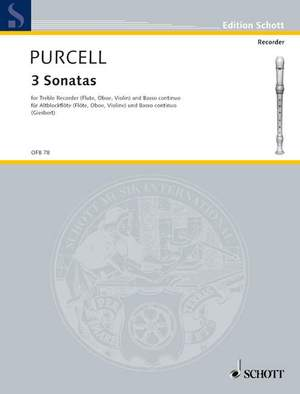 Purcell, D: 3 Sonatas