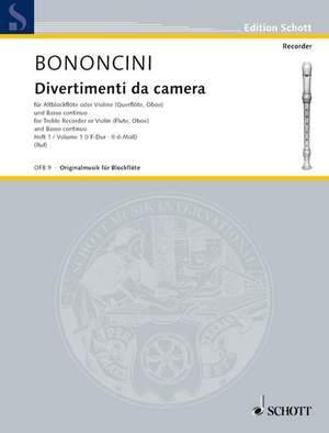 Bononcini, G B: Divertimenti da camera Band 1