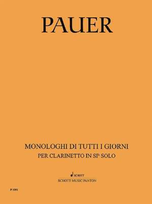 Pauer, J: Everyday Monologues