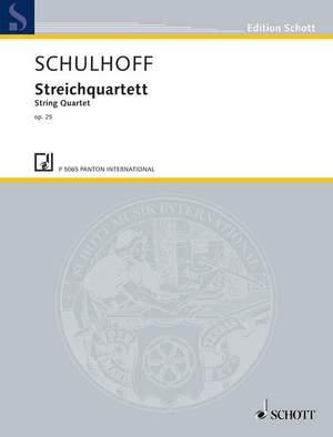 Schulhoff, E: String Quartet op. 25 WV 43