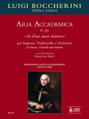 Boccherini, L: Aria Accademica Se d'un amor tiranno  G557