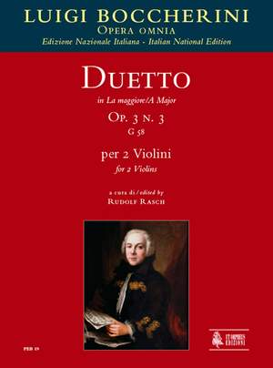 Boccherini, L: Duetto in A Major op. 3/3 G58