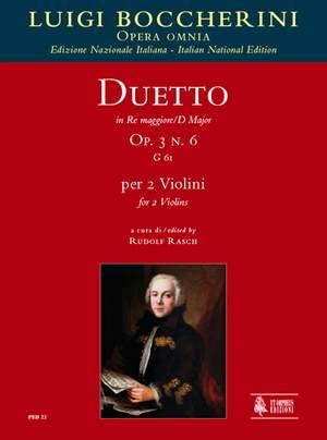 Boccherini, L: Duetto in D Major op. 3/6 G61