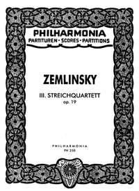 Zemlinsky, A: String Quartet No.3 op. 19