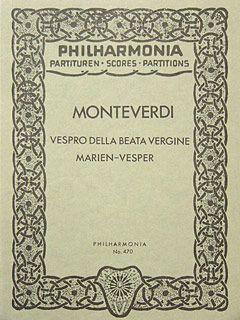 Monteverdi, C: Vespro della Beata Vergine
