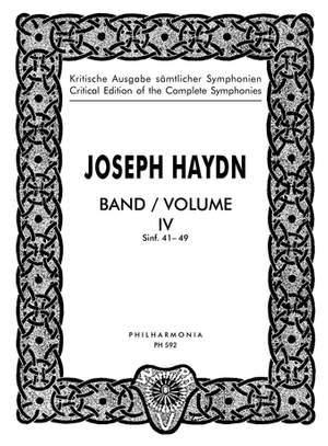 Haydn, J: Symphonies Nos. 41-49 Band 4