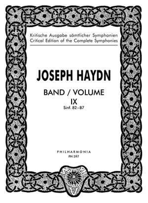 Haydn, J: Symphonies Nos. 82-87 Band 9