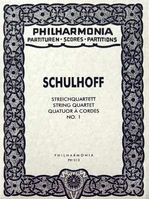 Schulhoff, E: String Quartet No.1