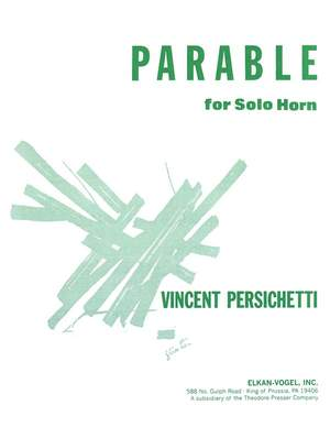 Vincent Persichetti: Parable for Solo Horn, Opus 120