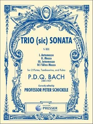 Bach: Trio (sic) Sonata