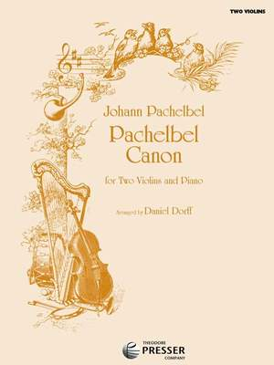Johann Pachelbel: Canon For Two Violins And Piano