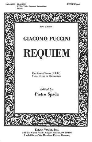 Puccini: Requiem (ed. P.Spada)