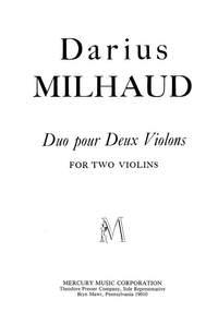 Milhaud: Duo Op.258