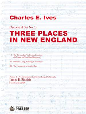 Ives: Three Places in New England (1976 Version)