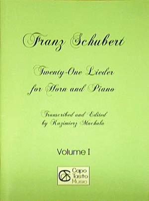 Schubert: 21 Lieder Vol.1
