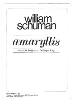 William Schuman: Amaryllis
