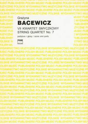 Bacewicz, G: String Quartet No.7 Sc/pts