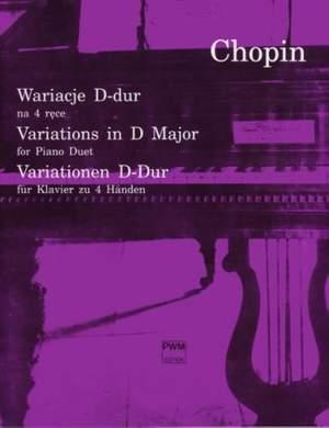 Chopin, F: Variationen D-Dur