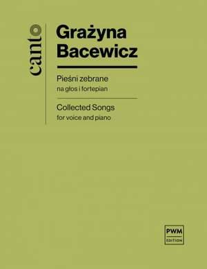 Bacewicz, G: Gesammelte Lieder