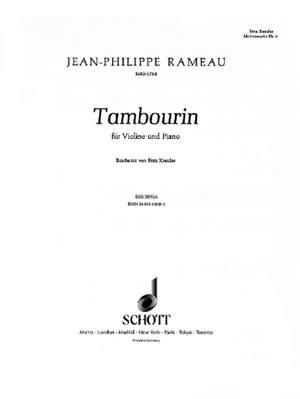 Rameau, J: Tambourin Product Image
