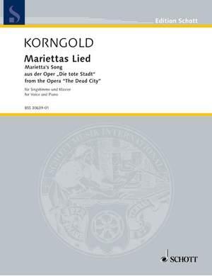Korngold, E W: Marietta's Song op. 12