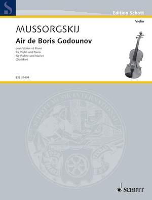 Moussorgsky, M: Air de Boris Godounov