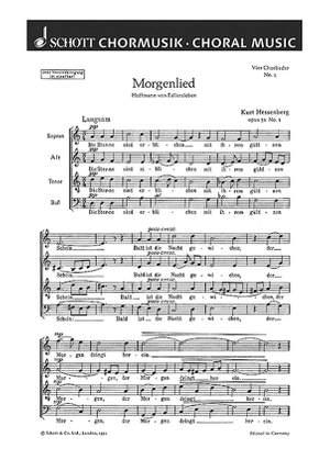 Hessenberg, K: Vier Chorlieder op. 31