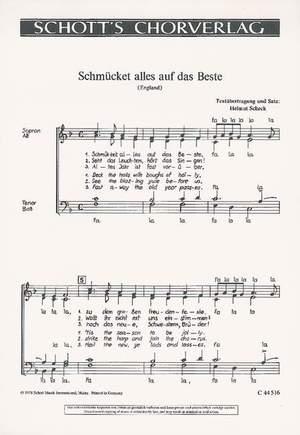 Scheck, H: Schmücket alles auf das Beste / Eine neue Weihnacht sagen wir euch an