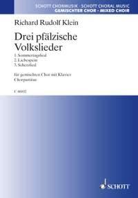 Klein, R R: Drei pfälzische Volkslieder