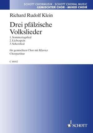 Klein, R R: Drei pfälzische Volkslieder Product Image