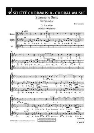 Cossetto, E: Spanische Suite