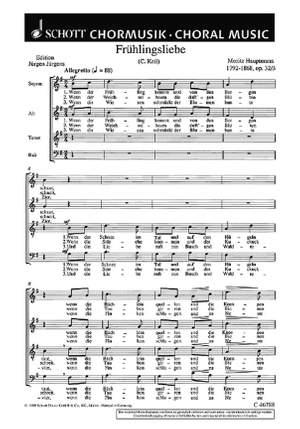Hauptmann, M: Sechs Chorlieder op. 32 Product Image