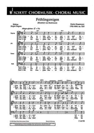 Hauptmann, M: Sechs Chorlieder op. 32
