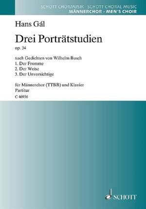 Gál, H: Drei Porträtstudien op. 34