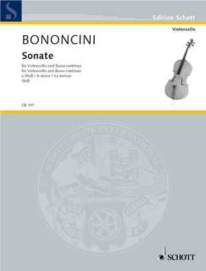 Bononcini, G B: Sonata A minor Product Image