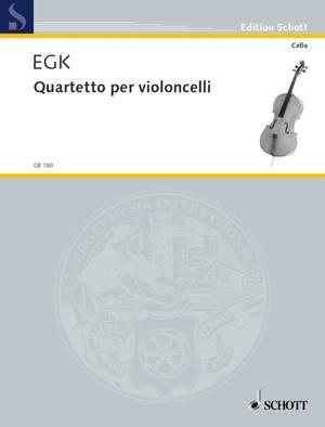 Egk, W: Quartet for violoncellos