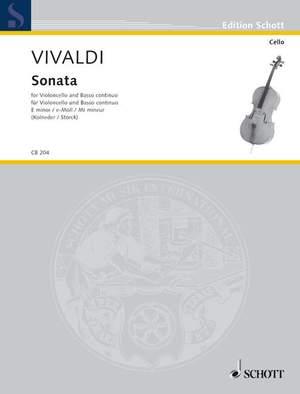 Vivaldi, A: Sonata E minor