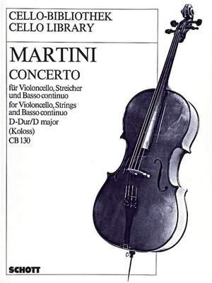 Martini, G B: Concerto D Major Product Image