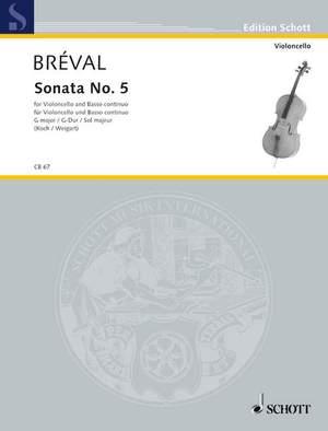 Bréval, J B: Sonata No. 5 G Major