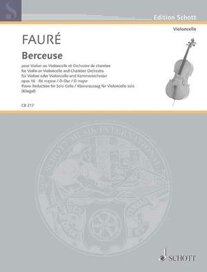 Fauré, G: Berceuse D major op. 16