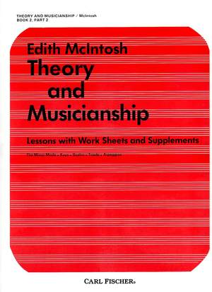 Theory and Musicianship - Book 2, Part 2 Product Image
