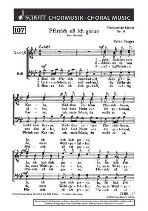Seeger, P: Vier lustige Lieder