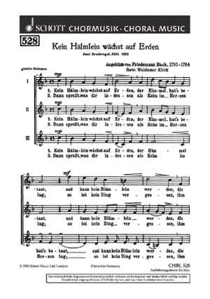 Bach, W F: Kein Hälmlein wächst auf Erden