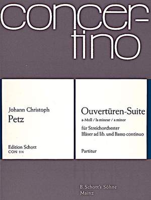 Pez, J C: Overtures - Suite A Minor