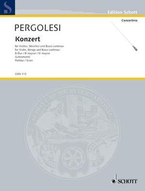 Pergolesi, G B: Concerto in Bb Major