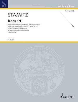 Stamitz, J W A: Concerto in G Major