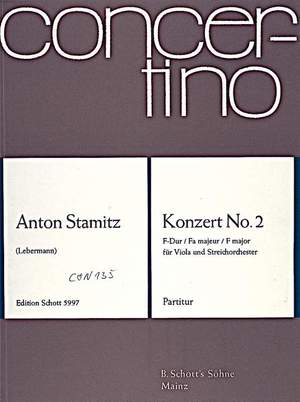 Stamitz, A: Concerto No. 2 F Major Product Image