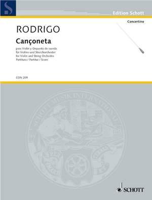 Rodrigo, J: Cançoneta A major