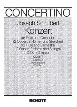 Schubert, J: Concerto D major op. 1